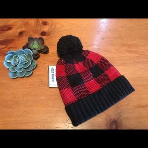 Old navy red plaid hat